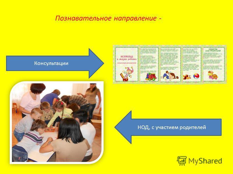 Познавательное направление - Консультации НОД, с участием родителей