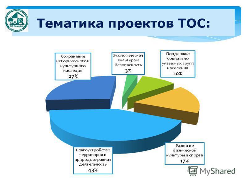 Тематика проектов ТОС: