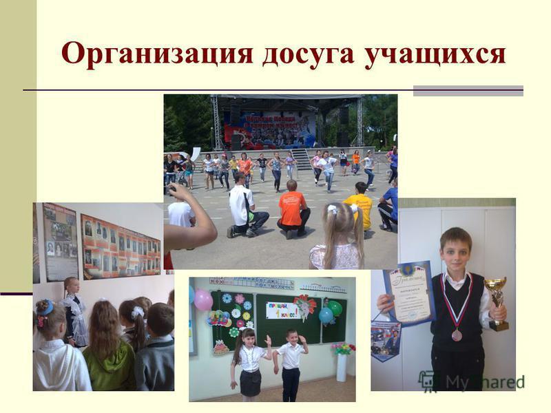 Организация досуга учащихся