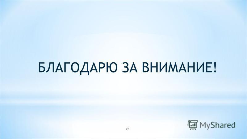 БЛАГОДАРЮ ЗА ВНИМАНИЕ! 25