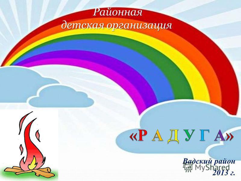 Вадский район 2013 г. Районная детская организация