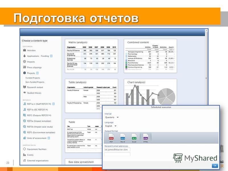 29 Подготовка отчетов 29