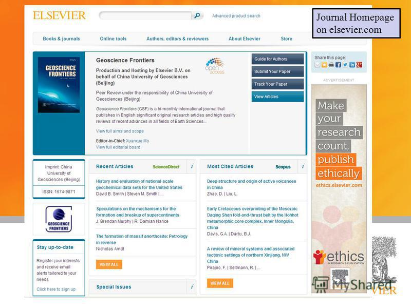 8 Presented by: Title: Date: Journal Homepage on elsevier.com