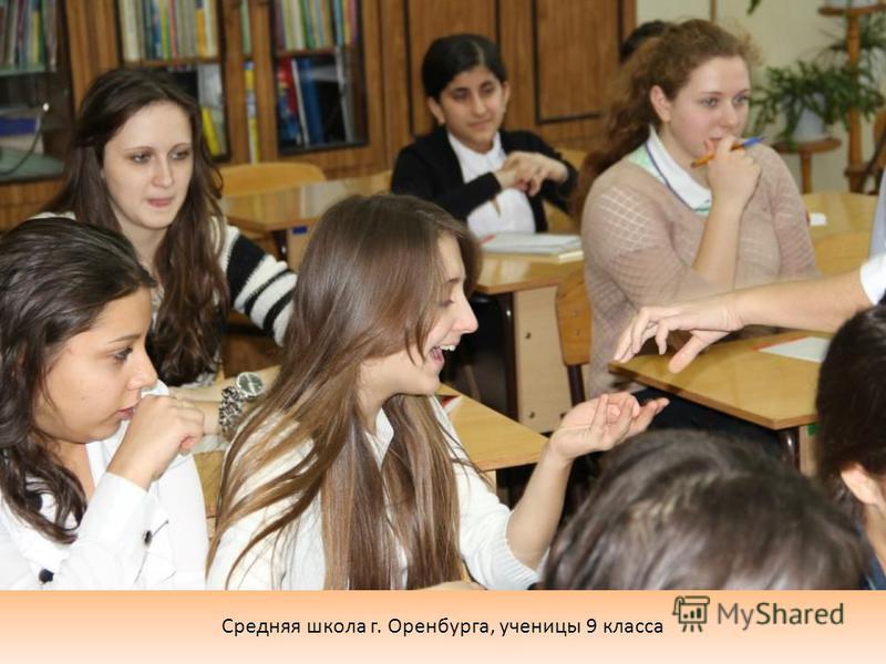 Средняя школа г. Оренбурга, ученицы 9 класса