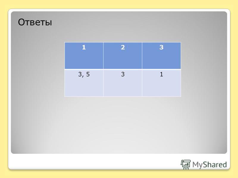 Ответы 123 3, 531