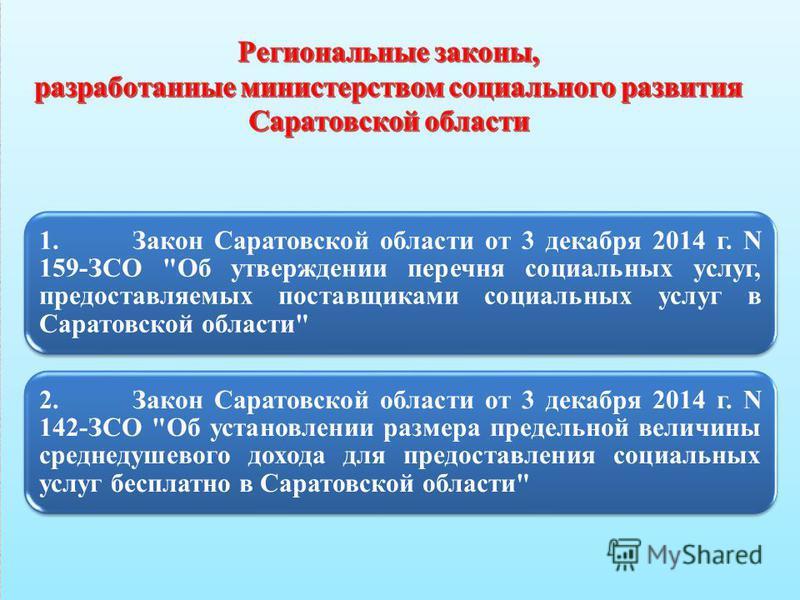 1. Закон Саратовской области от 3 декабря 2014 г. N 159-ЗСО