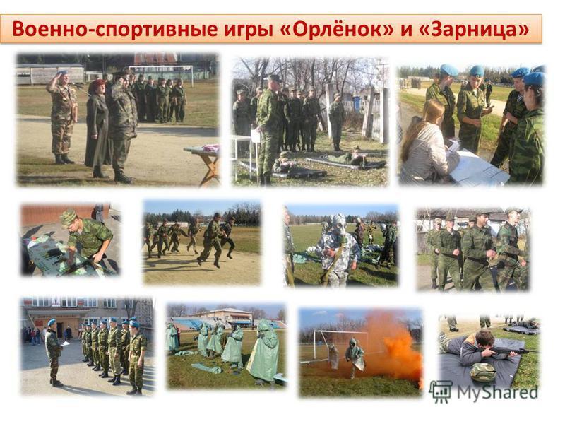Военно-спортивные игры «Орлёнок» и «Зарница»