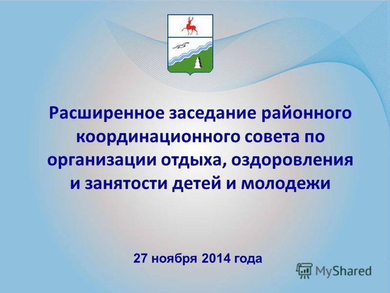 Расширенное заседание районного координационного совета по организации отдыха, оздоровления и занятости детей и молодежи 27 ноября 2014 года
