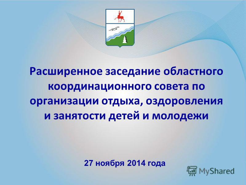 Расширенное заседание областного координационного совета по организации отдыха, оздоровления и занятости детей и молодежи 27 ноября 2014 года