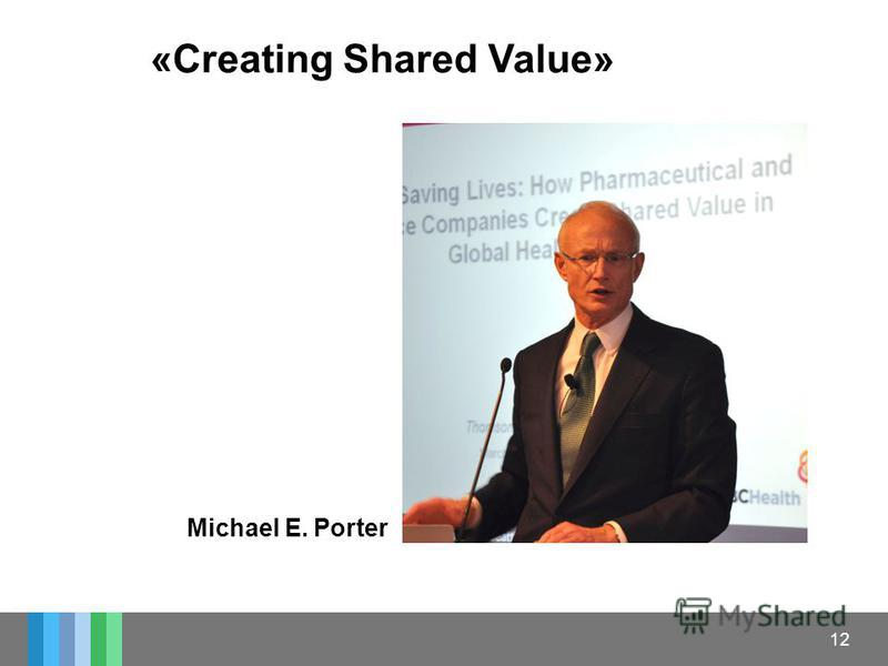 12 «Creating Shared Value» Michael E. Porter
