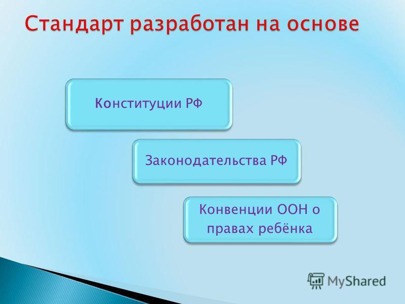 Конституции РФ Законодательства РФ Конвенции ООН о правах ребёнка