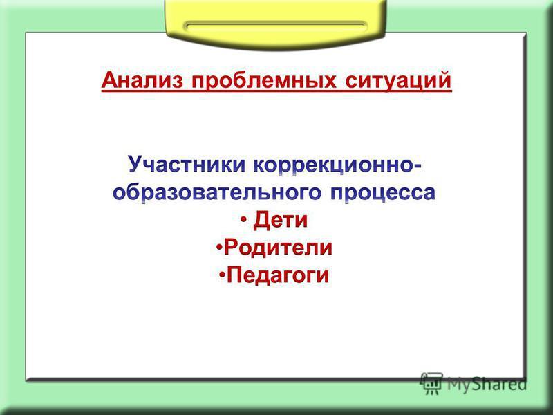 Анализ проблемных ситуаций