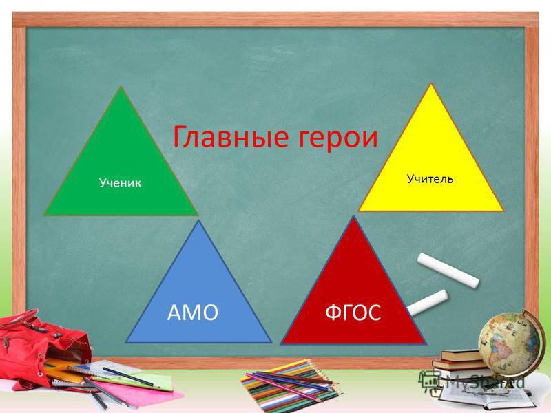 Главные герои Ученик Учитель АМО ФГОС