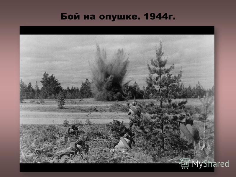 Бой на опушке. 1944 г.