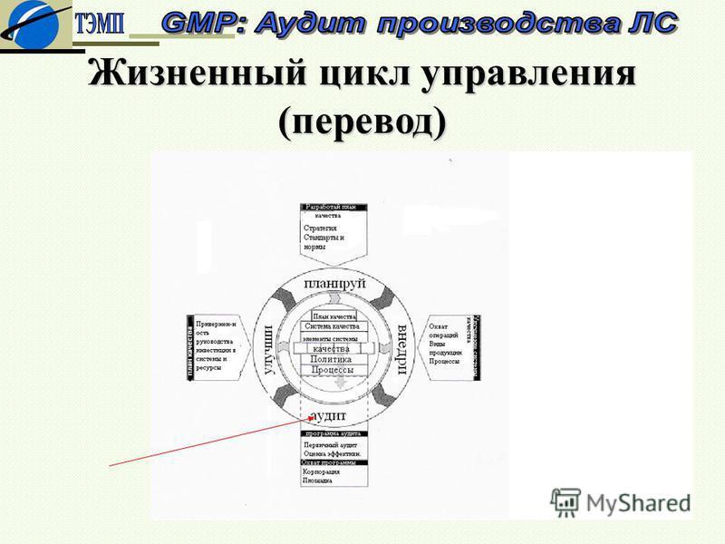 Жизненный цикл управления (перевод)