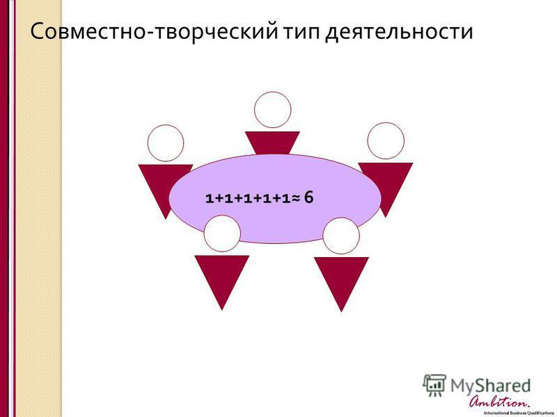 Ambition. Совместно - творческий тип деятельности 1+1+1+1+1 6