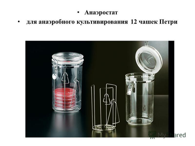 Анаэростат для анаэробного культивирования 12 чашек Петри