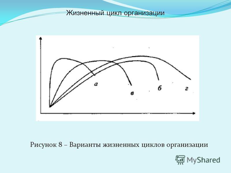 Рисунок 8 – Варианты жизненных циклов организации Жизненный цикл организации