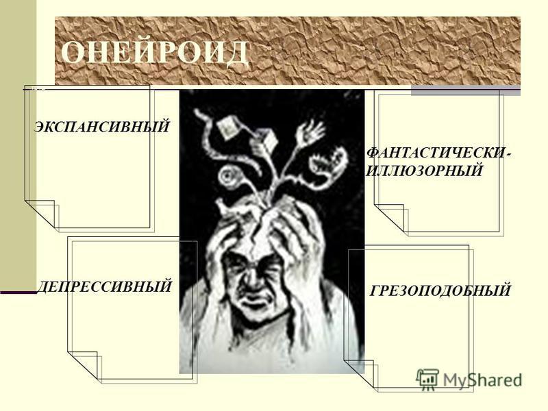 труд ОНЕЙРОИД ЭКСПАНСИВНЫЙ ДЕПРЕССИВНЫЙ ФАНТАСТИЧЕСКИ - ИЛЛЮЗОРНЫЙ ГРЕЗОПОДОБНЫЙ