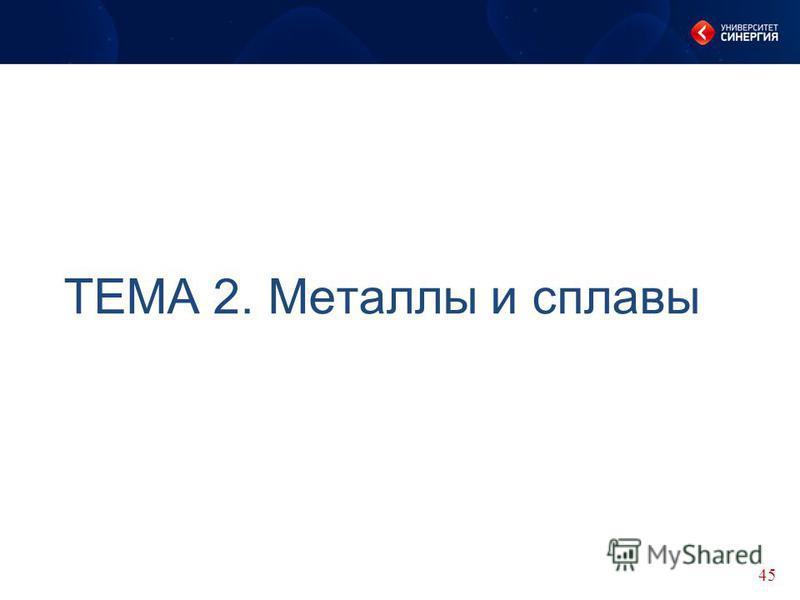 ТЕМА 2. Металлы и сплавы 45
