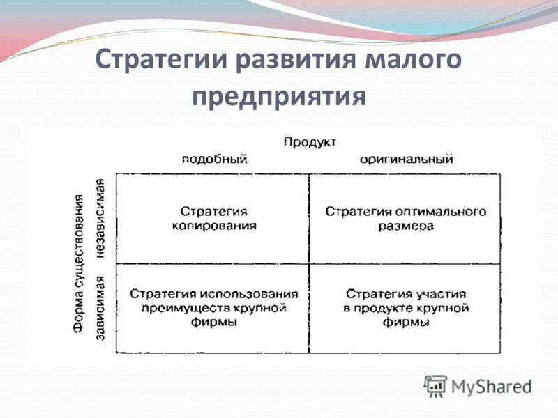 Стратегии развития малого предприятия