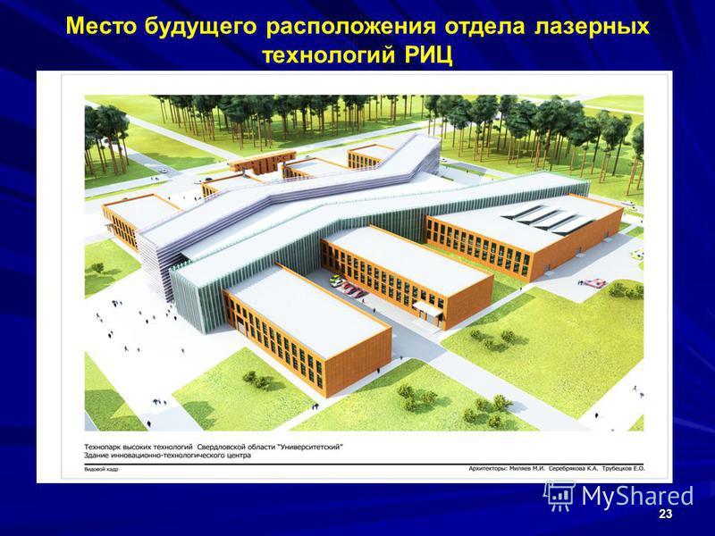 Место будущего расположения отдела лазерных технологий РИЦ 23