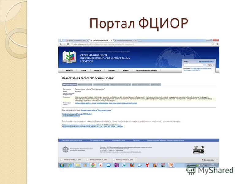 Портал ФЦИОР