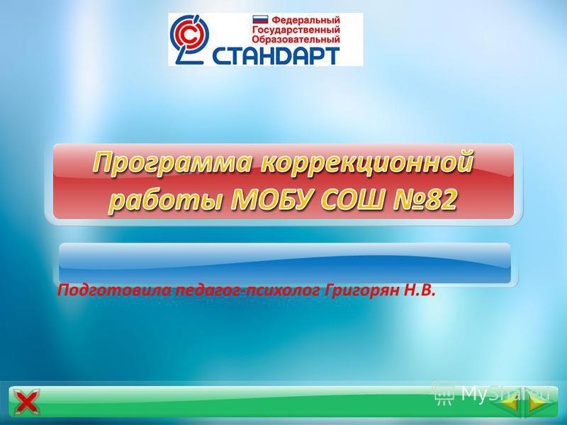 Подготовила педагог-психолог Григорян Н.В.