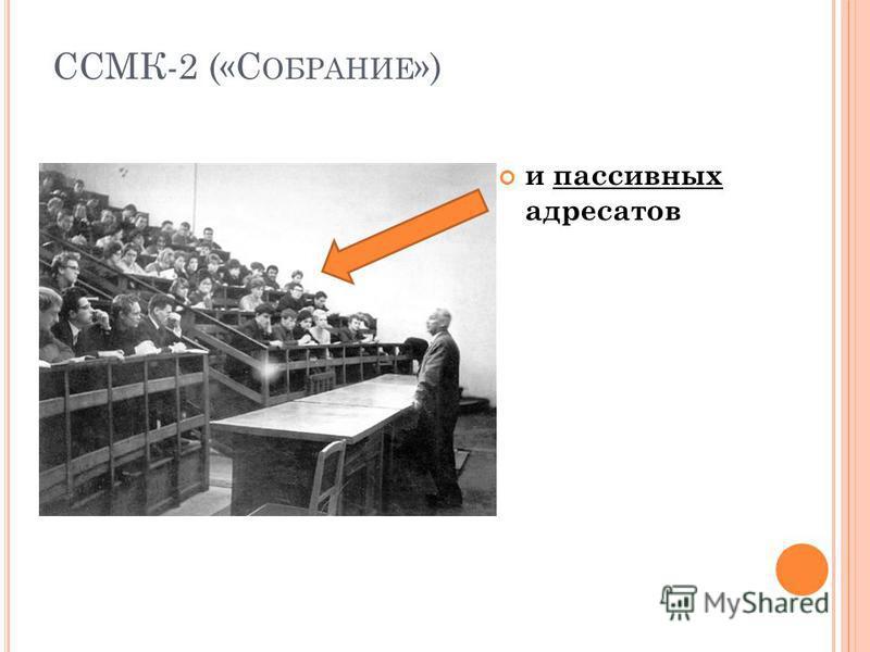 ССМК-2 («С ОБРАНИЕ ») и пассивных адресатов