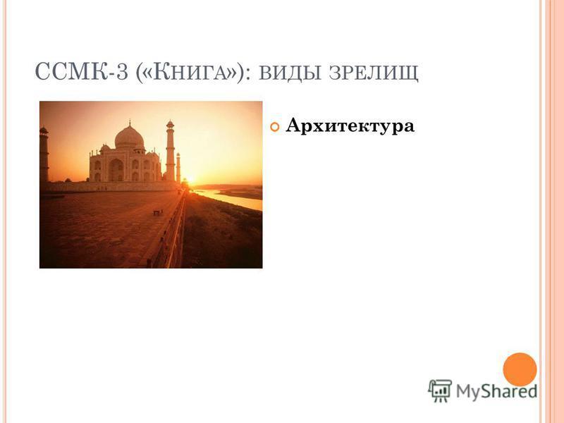 ССМК-3 («К НИГА »): ВИДЫ ЗРЕЛИЩ Архитектура