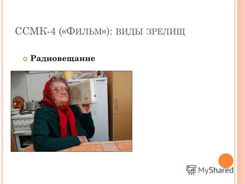ССМК-4 («Ф ИЛЬМ »): ВИДЫ ЗРЕЛИЩ Радиовещание