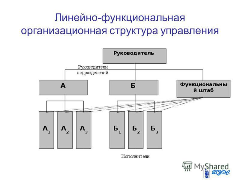 Линейно-функциональная организационная структура управления