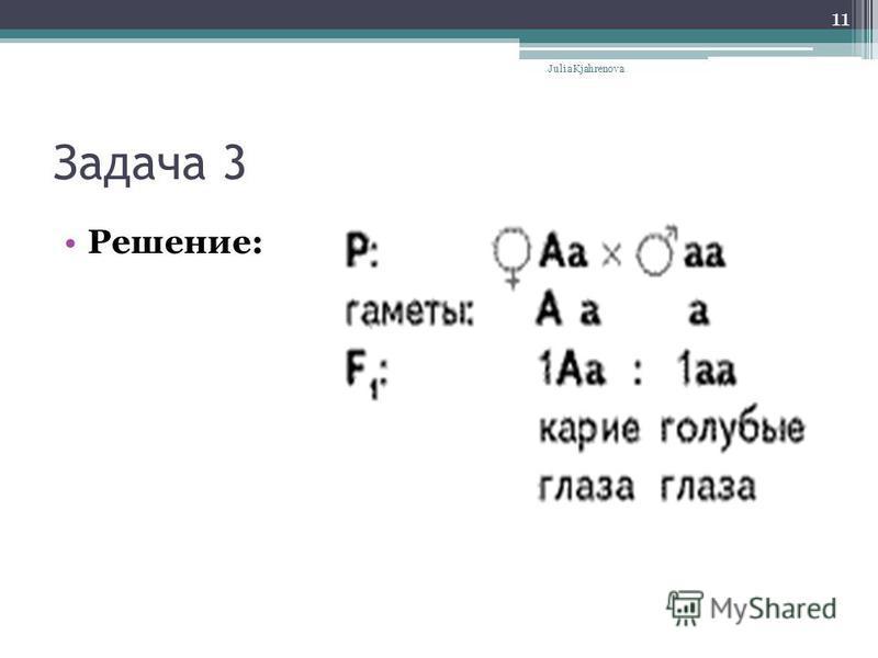 Задача 3 Решение: Julia Kjahrenova 11