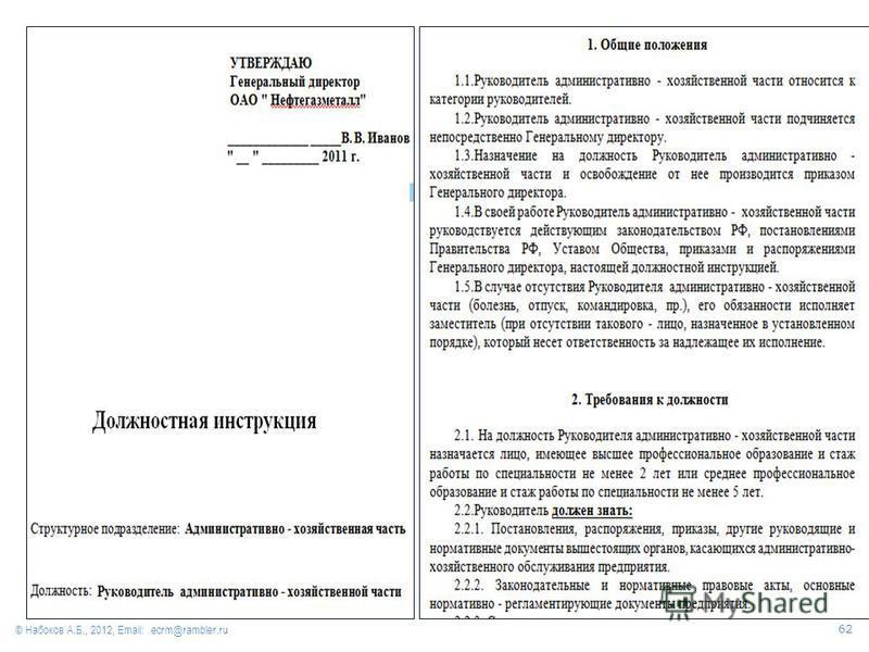 © Набоков А.Б., 2012, Email: ecrm@rambler.ru 62