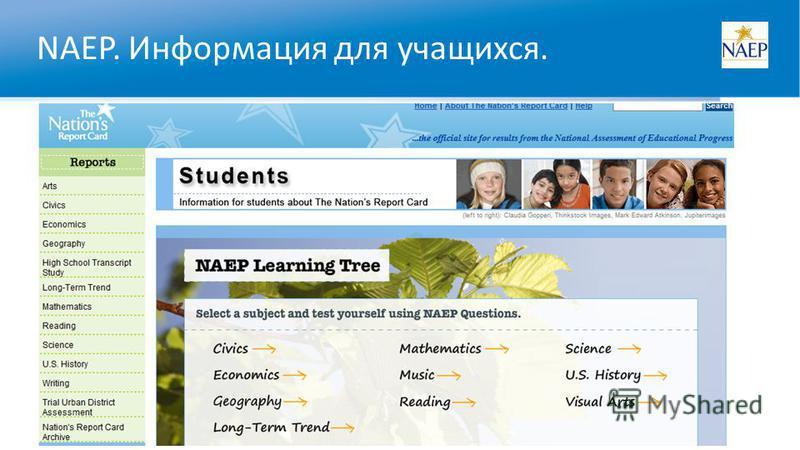 NAEP. Информация для учащихся.