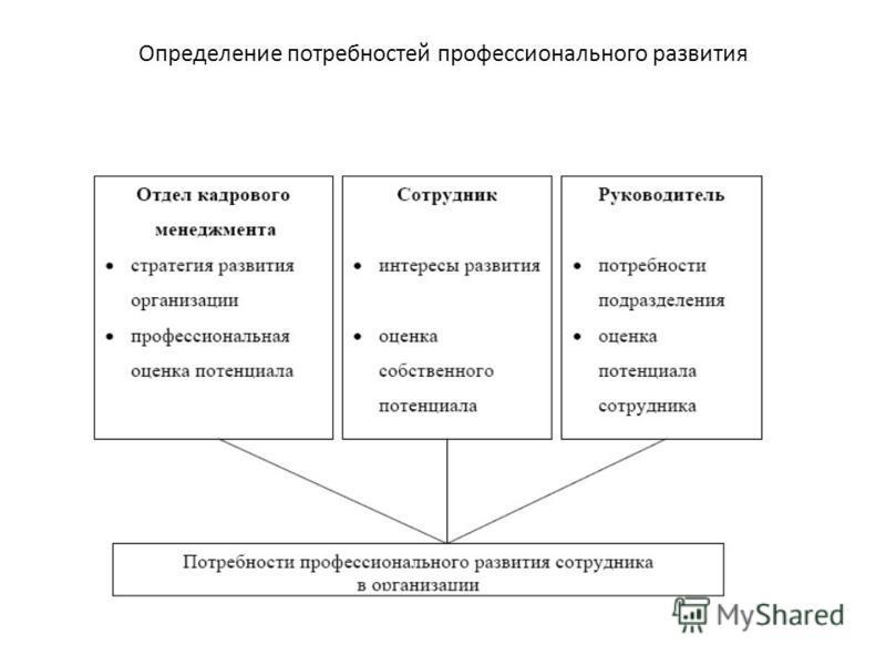 Определение потребностей профессионального развития