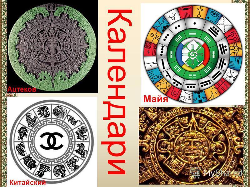 Китайский Майя Ацтеков Календари