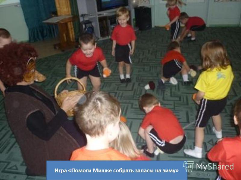 Игра «Помоги Мишке собрать запасы на зиму»