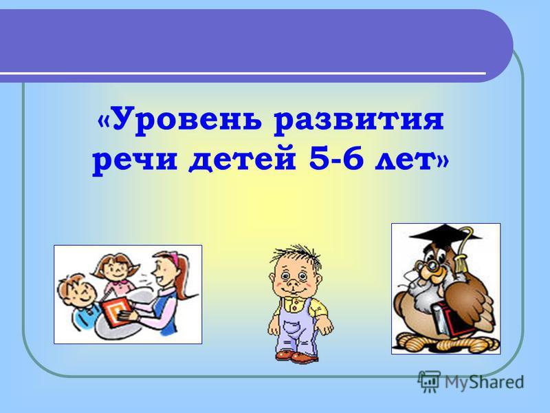 «Уровень развития речи детей 5-6 лет»