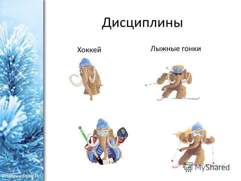 ProPowerPoint.Ru Дисциплины Хоккей Лыжные гонки