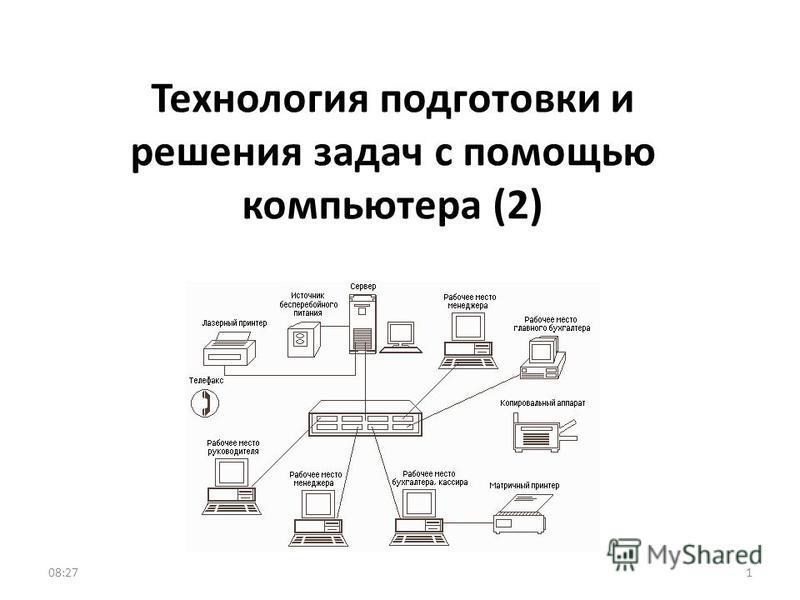 Технология подготовки и решения задач с помощью компьютера (2) 108:29