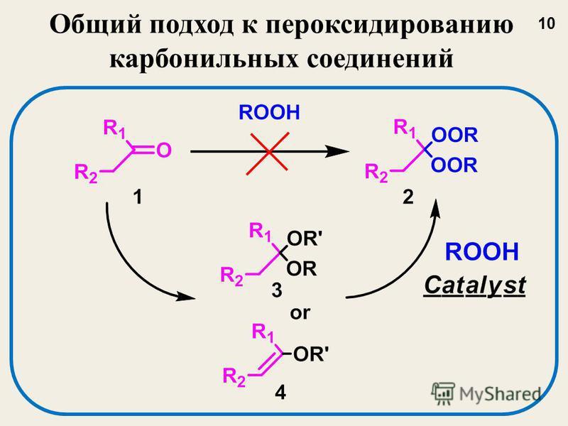 Общий подход к пероксидированию карбонильных соединений 10
