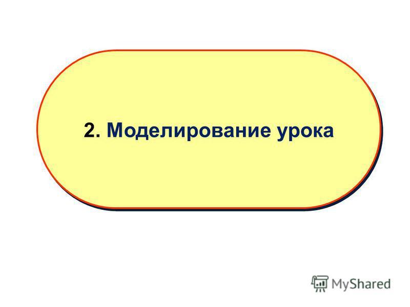 2. Моделирование урока