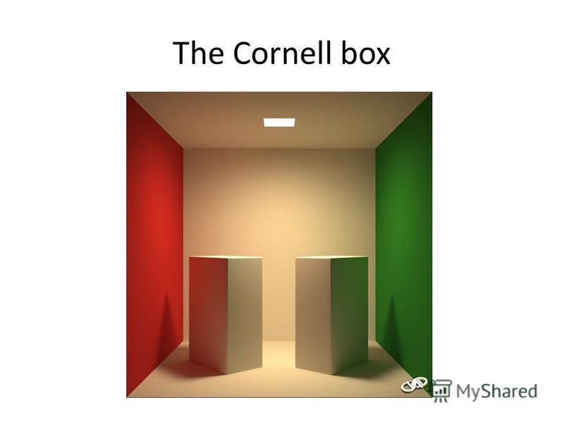 The Cornell box