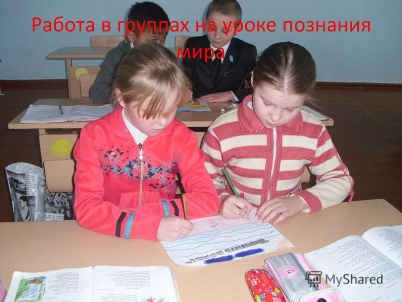 Работа в группах на уроке познания мира