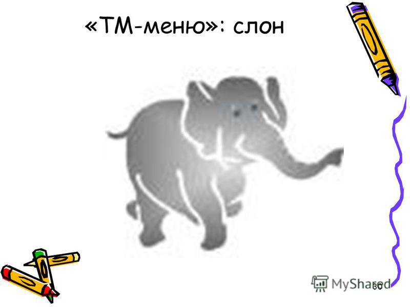 30 «ТМ-меню»: слон