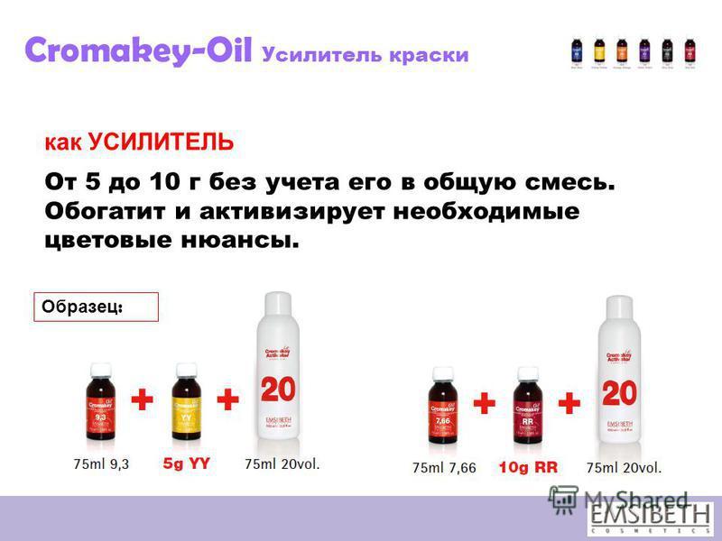 Cromakey-Oil Усилитель краски как УСИЛИТЕЛЬ От 5 до 10 г без учета его в общую смесь. Обогатит и активизирует необходимые цветовые нюансы. Образец :