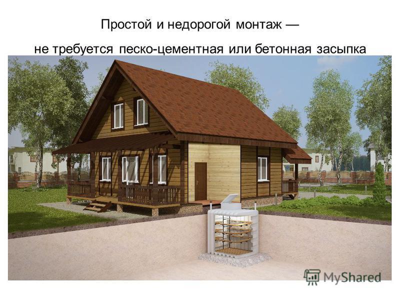Простой и недорогой монтаж не требуется песко-цементная или бетонная засыпка