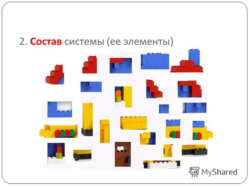 2. Состав системы ( ее элементы )