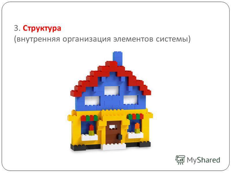 3. Структура ( внутренняя организация элементов системы )